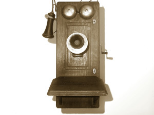 Sepia old phone
